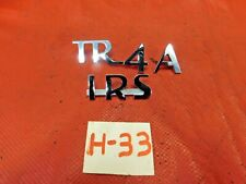Triumph TR4A IRS, Rear Trunk Emblem, New, !!