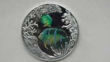 1999 Turks and Caicos 20 Crowns Fishes silver Proof coin