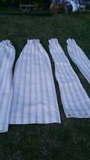 2 PAIRS OF CREAM & GOLD PLEATED CREAM  LINED CURTAINS  2 34cm DROP × 120cm WIDE