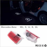 2x Benz W205 E Class  LED Door Step  Laser Courtesy Projector Ghost Shadow Light