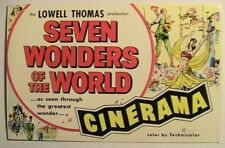 New York NY Cinerama at Warner Theatre Seven Wonders of World Postcard ca 1950's