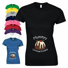 Mummy's Christmas Pudding T Shirt Baby Shower - Not A Loose Shape Maternity Top