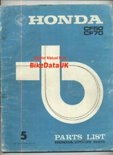 Honda CF70 Chaly (73-77) Official Parts List Catalogue Manual Book CF 70 50 CF48