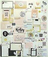 PROJECT LIFE/CRATE PAPER  [LITTLE YOU]  (65) FOIL JOURNAL CARDS & DIE-CUTS (A)