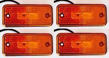 4x LED LATO POSIZIONE INDICATORE 24V LUCI ARANCIO fari per CAMION RIMORCHIO