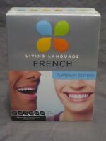 NEW Living Language French Platinum Complete 3 Book 9 Audio-CD Set Online Course