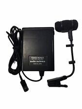 Audio Technica Power Module w/ Lavalier Lapel Microphone, Clip, Wind Sock