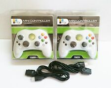 2 NEW White Controller Control Pad for Original Microsoft XBOX w 2 Extensions