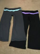Lululemon Cropped Yoga Fitness Black Pants Size 6 Vintage!