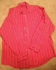 Men's red striped shirt 100 percent cotton from Burton. Medium.