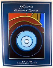 2000 Hamptons Concours d'Elegance ORIGINAL event poster
