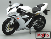 MAISTO 1:12 Yamaha YZF R1 White MOTORCYCLE BIKE DIECAST MODEL TOY NEW IN BOX