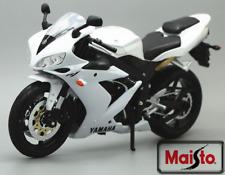 MAISTO 1:12 Yamaha YZF R1 White MOTORCYCLE BIKE DIECAST MODEL TOY NEW IN BOX