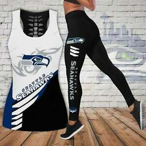 Seattle Seahawks 2PCS Tank Top Leggings Women's High Waist Butt Lift Yoga Pants