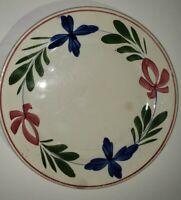 "Imperiale Royale Nimy Belgium Stick Spatterware 9"" Adams Rose Style Plate"