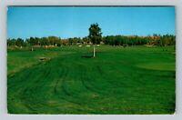 Flin Flon Manitoba, Scenic Phantom Lake Golf Course Chrome Canada c1963 Postcard