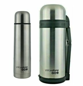 STAINLESS STEEL VACUUM THERMOS FLASK 0.5L /1.0L / 1.2 L / 1.5L INSULATED THERMOS