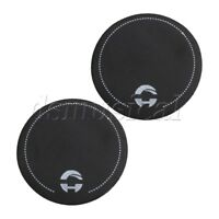 2x Nylon Round Black Bass Drum Single Pedal Patch Drum Head Protection