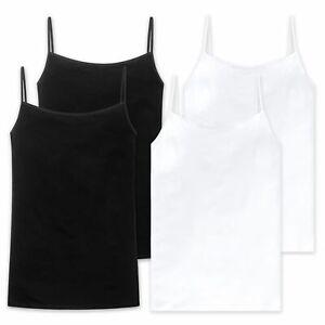 Schiesser Damen Unterhemd mit Spaghettiträgern, Serie: Cotton Essentials 2 Stück