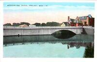 Vintage Postcard Michigan Ave Bridge Ypsilanti Michigan