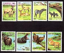 $Congo PR Sc#1008-1015 M/NH, complete set, wild animals, Cv. $22.80