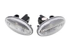 For Citroen C1 C2 C3 C4 C5 C6 LED Side Indicator Repeater Lights White E-Mark