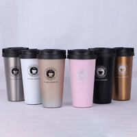 Vacuum Insulated Stainless Coffee Mug Water Bottle Tea Cup Car Travel Thermos