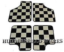 Classic Mini deluxe Chequered carpet car mats (set 4)