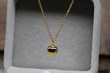 NEW 24K Yellow Gold Pendant / Small Lovely Heart Pendant 1.1g