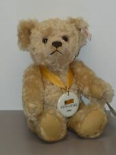 """11"""" Mohair Steiff Teddy Bear in Box, From 2000, Jointed, Ultra Suede Paw Pads"""