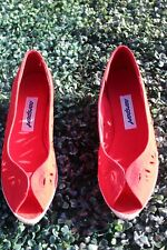 Vtg 70s 80s Nordstrom Norsport Red Womens Red Wedge 8.5 Us