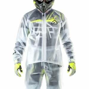 Acerbis Adults Rain 3.0 Clear Motocross MX Enduro Bike Waterproof Rain Jacket