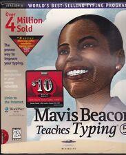 Software Mavis Beacons Teaches Typing Version 5 1997 CD-ROM Sealed Vintage