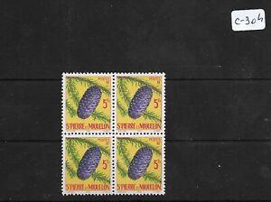 SMT 154, SPMiquelon superb block of 4, MNH, RRR