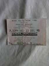 DAVID BOWIE RARE CONCERT TICKET BIRMINGHAM DEC 1995 Alanis Morrisette Echobelly