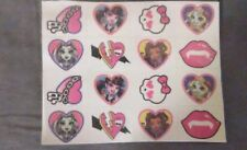 Monster High Temporary Tattoo sheet 16 count