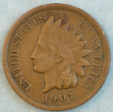 1907 Indian Head Cent Penny Liberty Very Nice Vintage Old Coin Fast S&H 34001