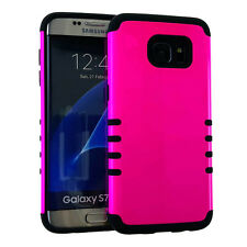 Dual Layer Shock Proof Hybrid Cover Case for Samsung Galaxy S7 Edge - Color