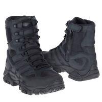 "Merrell Men's J15845 Moab 2 Side Zip Soft Toe Waterproof  8"" Tactical Boot Black"