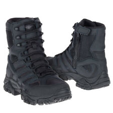 "Merrell Men's J15845 Moab 2 Side Zip Soft Toe Waterproof  8"" Tactical Boot Black"