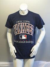 New York Yankees Shirt (VTG) - Type Set Script by Russell Athletic - Mens Medium