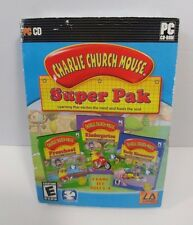 Charlie Church Mouse Super Pak 3 Games in 1 CD PC Software Early Learning Skills