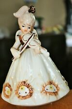 Vintage JOSEF Porcelain China Musical Angel & Violin Girl Figurine Memories Tune
