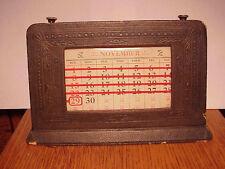 Antique Desk Calendar The UPTODATE Calendar De Wilde Co. Very Unusual !!