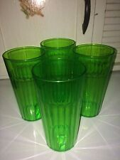 Arrow Neon Green Tumblers Glasses Set of 4 16 oz Hard To Find Color