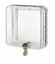 HONEYWELL CLEAR PLASTIC SMALL LOCKING THERMOSTAT COVER GUARD w Inner Shelf