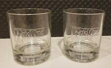New listing Set of 2 Kettle One Vodka Commemorating Glasses Embossed Limited Edition Distill