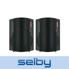 "Redback 6.5"" 2-Way 50W Indoor Active Speakers Pair 240V Powered Black"