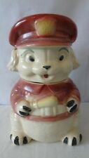 Brush McCoy Pottery 1966 W39 Puppy Police  Cookie Jar #K101