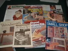 7 Vtg 90s Mixed Lot Shop Notes American Woodworker Woodsmith Magazines #mag